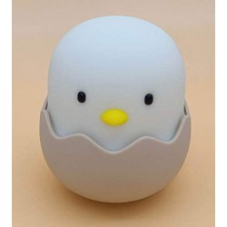 (2020 Christmas Gifts) Animal Shape LED Night Light, Girl and Boy Room Lights, Soft Silicone Animal Lights, Bedroom Color Changing Table Lamps, Baby Toys Cool Night Lights (Chick)