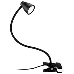 14 LED Clamp Light Reading Light - 3-Color Temperature, 5 Brightness Dimmable, Auto-Off and Memory Function, Eye Protection Desk Lamp, 360 ° Flexible Gooseneck USB Night Light (No Adapter)