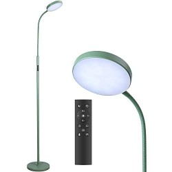 Floor Lamp, Joofo Led Floor Lamp, Remote and Touch Control, 1 Hour Timer Reading Standing Lamp, 4 Color Temperatures with Stepless Dimmer Floor Lamp for Living Room Bedroom Office, Avocado Green