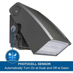 (2 Pack) Dakason 30W LED Wall Pack, Dusk-to-dawn Photocell, Adjustable Head, Full Cut-off Security Light, 5000K 3300lm Replaces 100-150W HPS/HID IP65 Waterproof Outdoor Lighting fixture ETL DLC Listed