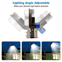 120W LED Barn Lights 2 Pack - [Update] 18000lm Angle Adjustable with Mounting Arm Dusk to Dawn LED Yard Lights with Photocell Area Lighting 5000K Daylight