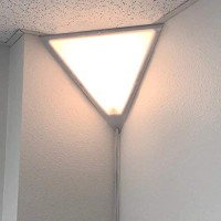 Beacon Triangle Corner Light, Plug-in 17 Cord, White Installs in Seconds - Perfect for Apartments, dorms - No Wiring Needed