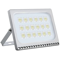 100W LED Flood Light, 11000LM 6000-6500K (Cold White) IP67 Waterproof Super Bright Outdoor Floodlight for Garden Yard, Party, Lawn, Playground, Basketball Court