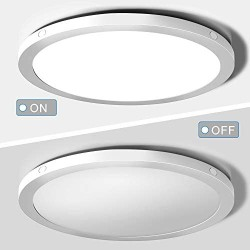 2-Pack LED Flush Mount Ceiling Light, 12 inch Ceiling Light Fixture, 24W (150W Equivalent), Dimmable 2100lm, Daylight White 5000K, Round Ceiling Lamp Surface Mount for Kitchen Bedroom Closet Hallway