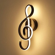 KAWELL Creative Modern Wall Lamp 22W Led Porch Wall Light Indoor Led Strip Aluminum Wall Sconce for Bedroom Living Room Cafe Corridor 3000K Black