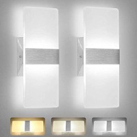 LED Wall Light, OOWOLF 8W Modern 3 Color Temperature LED Wall Lamp Decorative Indoor Living Room for Bedroom Pathway Corridor Stairs Balcony