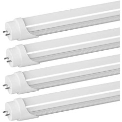 2FT LED Tube Light Bulb,9W(25W Equiv),Daylight 5000K,1350 LM Super Bright,F17T8 F18T8 F20T10/CW Fluorescent Replacement,Single-end Powered,Ballast Bypass,2 Foot LED Bulb for Kitchen Bedroom - 4 Pack