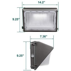 100W LED Wall Pack with Dusk-to-Dawn Photocell, 12500lm Replaces 300-400W HPS/MH, 100-277V 5000K Cool White IP65 Waterproof Outdoor Commercial Grade Light, ETL DLC Listed 10-Year Warranty by Kadision