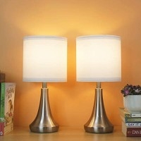 Lamps for bedrooms Set of 2,Lamps for Home Office,Lamps for Living Room, Lamps for Study Bedroom, Small Desk Lamps for Bedroom,Lamps for Living Room,Lamps with Touch Control Dimmable ,Bulb Included