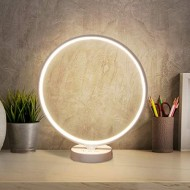 Albrillo Modern Table Lamp - Dimmable LED Desk Lamp with USB Port, Touch Control and Timer, Warm or Cold White 3000K-6500K, CRI95+ Light Therapy Lamp, Bedside Lamp for Bedroom, Office, Living Room