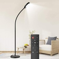 Dodocool Floor Lamp, Remote & Touch Control 2500K-6000K LED Floor Lamp for Bedroom and Floor Lamp for Living Room and 4 Color Temperatures Standing Lamp, Standing Light for Bedroom Office Reading