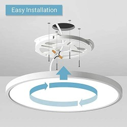 12 Inch 20W Flush Mount LED Ceiling Light, 2000 LM, Round Flush Mount Ceiling Lamp Fixture for Bedroom, Living, Kitchen, Hallway, Bathroom, Stairwell, Color White, Slim, 3 Colors in 1(Non Dimmable)