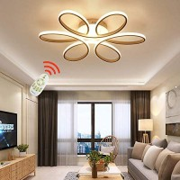 ZipLighting Modern LED Ceiling Light Dimmable Ceiling Lighting with Remote Round Ceiling Light Fixture Ceiling Lamp Flower Shape for Dinning Room Bedroom Kitchen Hallway 80W Decorative Lamp