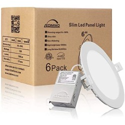 1100lm 5 Years Warranty 6 inch 12W 5000K No-Flicker No-Buzz Dimmable Recessed Lighting, 6