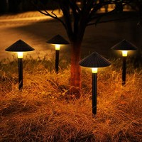 RUNDA Solar Lights Outdoor, Upgraded 4 Pack LED Solar Landscape Lights, Waterproof Solar Powered Pathway Lights for Yard, Patio, Landscape, Walkway, Decoration
