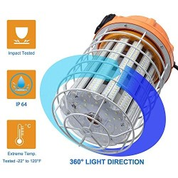 100W LED Temporary Work Light Waterproof Lights Construction Lights Work Site Lighting Temporary Construction Lighting 13500Lm 5000K Daylight White Lighting for Construction Job Site