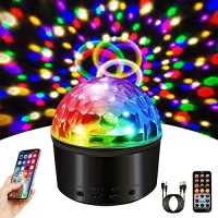 Disco Lights Party Lights 9 Colors Disco Balls Sound Activated Strobe Lights with Bluetooth Speaker and Remote Lights Projector for Room Dance Parties Lights Show Kids Birthday Wedding Show Club Pub