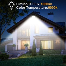 100W LED Flood Light Outdoor HWay 11000lm Outside 600W Equivalent Floodlights IP66 Waterproof Exterior Security Lights, 5000K Daylight White Super Bright Lighting for Yard, Garden, Playground
