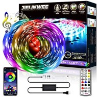 Christmas LED Strip Lights, 32.8ft(2 Rolls 16.4ft)RGB Colored Light Strips with Remote and Control Box, Cuttable Design, 5050 LED, Strong Adhesive LED Lights for Bedroom, Living Room, Ceiling, Kitchen