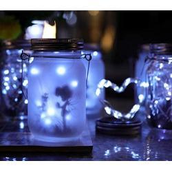 XINGTONG Solar Mason Jar Lid Lights - Solar Fairy Lights Outdoor Waterproof Firefly Jar Lids String Lights for Patio Yard Garden Outdoor Festival Decor (Jars Not Included) (8 Pack)